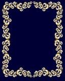 Gouden wervelingsframe Royalty-vrije Stock Foto's