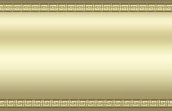 Gouden wervelingsgrens Stock Afbeeldingen