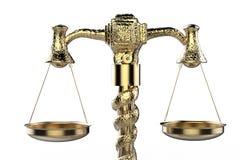 Gouden wetsschaal royalty-vrije stock foto's