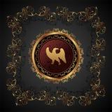 Gouden wijnoogst met heraldische adelaar Royalty-vrije Stock Fotografie