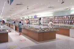 Gouden winkel Weinig India Singapore royalty-vrije stock afbeelding