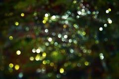 Gouden witte donkere cirkellichten kleurrijke tinten, achtergrond, bokeh Royalty-vrije Stock Foto's