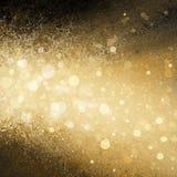 Gouden witte Kerstmis steekt vage achtergrond aan Stock Afbeeldingen