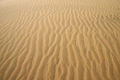 Gouden woestijn. De textuur van het zand. Royalty-vrije Stock Foto