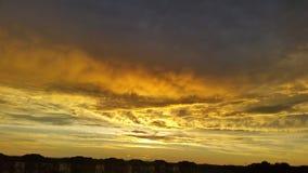 Gouden wolken Royalty-vrije Stock Afbeeldingen