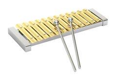 Gouden xylofoon, het 3D teruggeven stock illustratie