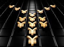 Gouden yena Royalty-vrije Stock Afbeelding