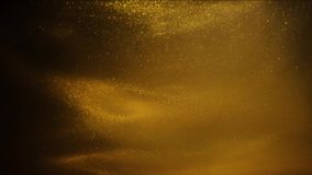 Gouden zand of stof die tot abstracte wolkenvormingen leiden Kunstachtergronden stock footage