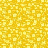 Gouden ZeevaartPatroon Stock Afbeeldingen