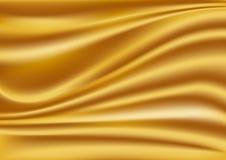 Gouden zijdeachtergrond Stock Afbeelding