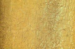 Gouden zijdetextuur Royalty-vrije Stock Fotografie