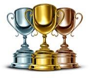 Gouden Zilver en Brons Royalty-vrije Stock Foto's