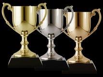 Gouden zilver en brons Stock Fotografie