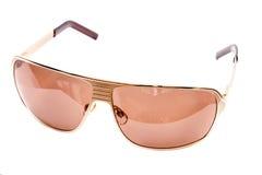 Gouden zonnebril. Stock Afbeelding