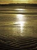 Gouden zonsondergang royalty-vrije stock fotografie