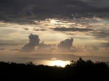 Gouden zonsondergang Stock Foto's