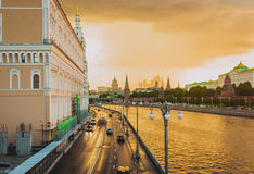 Gouden zonsondergang Royalty-vrije Stock Foto's