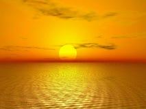 Gouden zonsondergang royalty-vrije illustratie