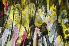 Gouden zwarte purpere donkere wasachtige druppelsverf De abstracte achtergrond van de waterverfverf Stock Foto