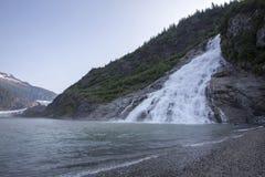 Goudklompjesdalingen en mendenhall gletsjer, Alaska stock afbeelding