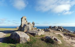 Goudoul rock in Lesconil coast Stock Images