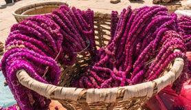Goudsbloembloemen voor het festival van Tihar Deepawali en Newari-Nieuwjaar in Kathmandy stock afbeelding
