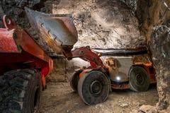 Goudwinning ondergronds stock fotografie