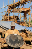 Goudzoekers in Indonesië op een eiland Borneo Stock Afbeelding