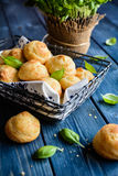 Gougéres - traditional French cheese choux pastry royalty free stock photo