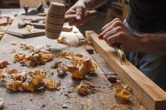 Gouge wood chisel Stock Image