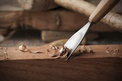 Gouge for wood Royalty Free Stock Images