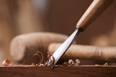 Gouge for wood Stock Images