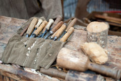 Gouges and chisels Stock Photo