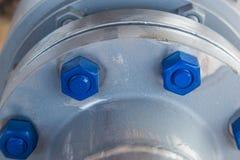 Goujon-boulon de bride de gaz Photo libre de droits