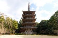 Goujonoto pagod på den Daigo-ji templet i Kyoto arkivbilder