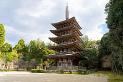 Goujonoto Pagoda at Daigo-ji Temple in Kyoto. Japan Stock Photos