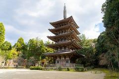 Goujonoto pagoda przy Daigo-ji świątynią w Kyoto zdjęcia stock