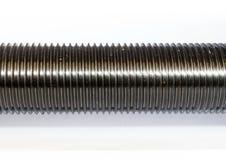 Goujons en métal avec le fil métrique Images stock