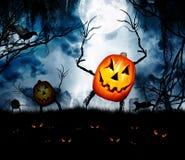 Goul di re della zucca di Halloween fotografia stock libera da diritti