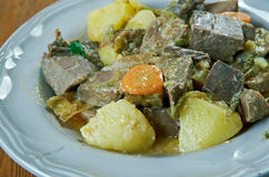 Goulash from beef heart Stock Image