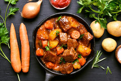 Goulash, beef stew Royalty Free Stock Images