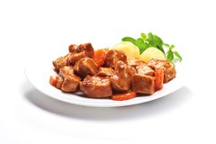 Goulash, beef stew with potatoes Royalty Free Stock Photos