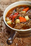 Goulash with buckwheat groats Stock Photo