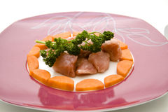 Goulash with carrots Stock Photo