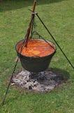 Goulash in cauldron Royalty Free Stock Photo