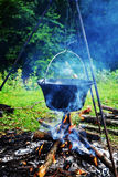 Goulash at cauldron Royalty Free Stock Images