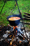 Goulash at cauldron Stock Photo