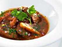 Goulash de carne húngara quente rica Imagens de Stock Royalty Free