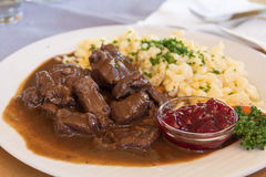 Goulash of deer Royalty Free Stock Image