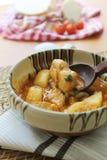 Goulash del porco con le patate Immagini Stock